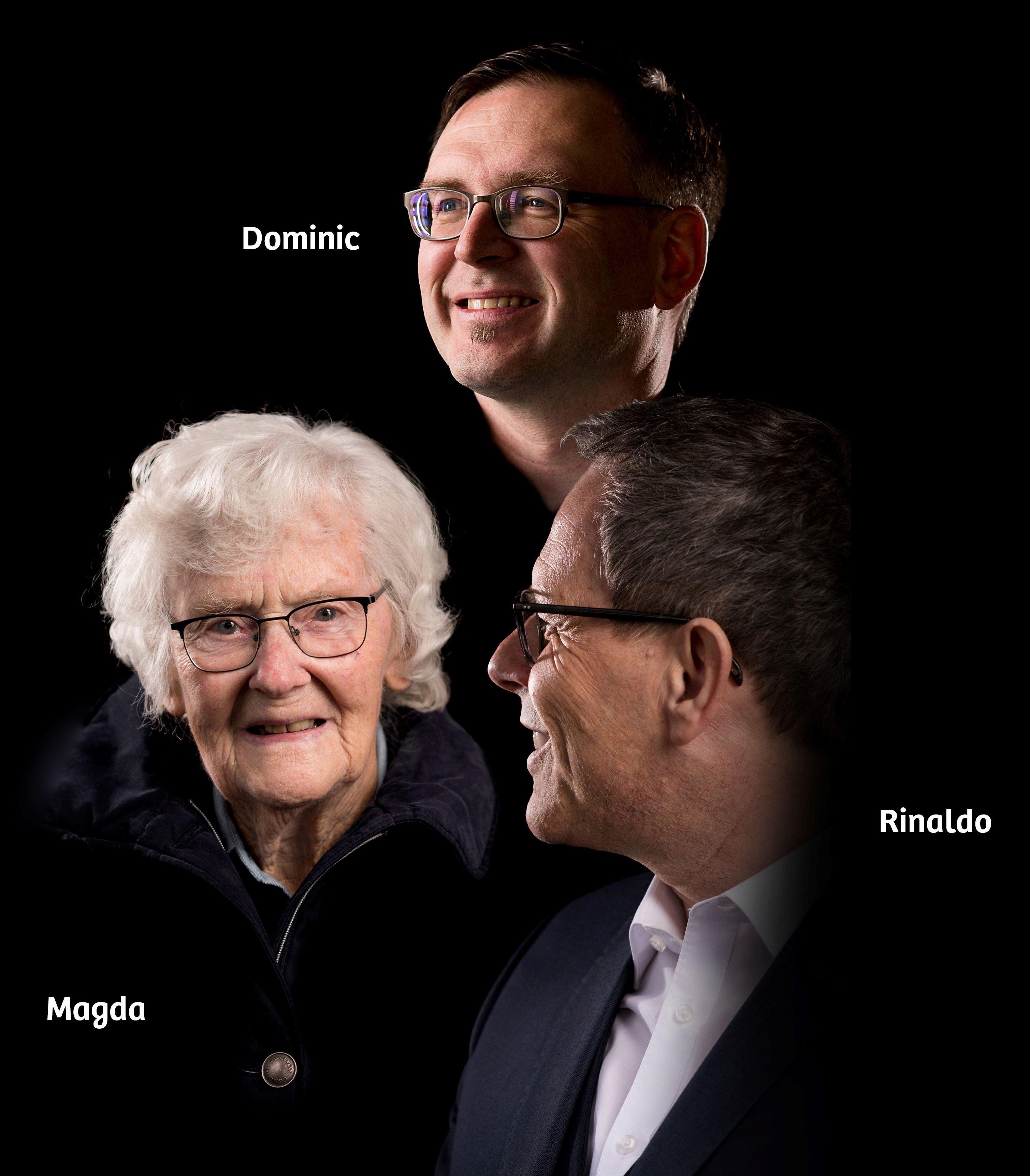 Magda, Dominic und Rinaldo